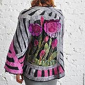 """Одежда ручной работы. Ярмарка Мастеров - ручная работа Пончо """"Ночные цветы"""". Handmade."""