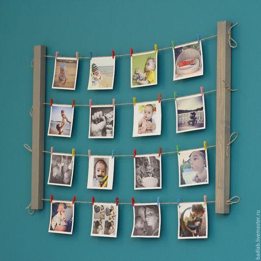 Подвески ручной работы. Ярмарка Мастеров - ручная работа. Купить Панно для фотографий на стену Fotolder (серое). Handmade. Для фото
