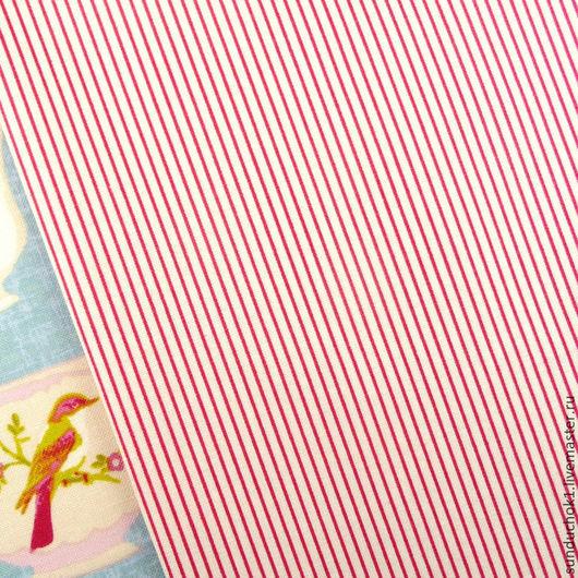 Шитье ручной работы. Ярмарка Мастеров - ручная работа. Купить Ткань Тильда Mini Stripe Red. Handmade. Ткань для творчества