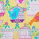 """Шитье ручной работы. Хлопок """"Певчие птицы"""". Лоскутная радуга (Наташа). Интернет-магазин Ярмарка Мастеров. Хлопок, хлопок для игрушек"""