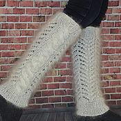 Аксессуары handmade. Livemaster - original item Leg warmers fashion knitted down. Handmade.