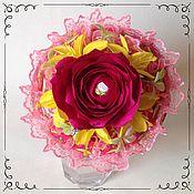 Цветы и флористика ручной работы. Ярмарка Мастеров - ручная работа Букет из жвачек Love is и конфет. Handmade.