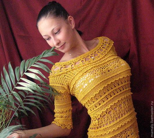 """Платья ручной работы. Ярмарка Мастеров - ручная работа. Купить Платье""""Обворожительная Оливия Ванессы Монторо"""". Handmade. Вязаное платье"""