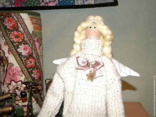 Куклы Тильды ручной работы. Ярмарка Мастеров - ручная работа. Купить Ангел Уюта Анюта. Handmade. Белый