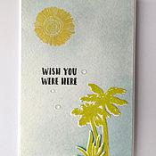 Открытки handmade. Livemaster - original item !The handmade card, stills, ABOUT the TROPICS. Handmade.