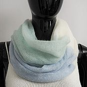 Аксессуары handmade. Livemaster - original item Snood two turns from kid-mohair. Handmade.