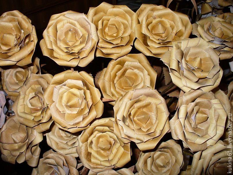 Цветы из берёсты