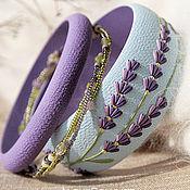 Украшения handmade. Livemaster - original item A set of bracelets Lavender blue, polymer clay. Handmade.