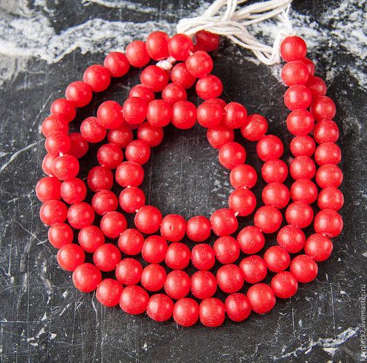 Для украшений ручной работы. Ярмарка Мастеров - ручная работа. Купить Вишневые круглые бусины из смолы диаметром 10 мм. Handmade.