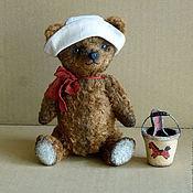 Куклы и игрушки ручной работы. Ярмарка Мастеров - ручная работа Песочный мишечка в панамке)). Handmade.