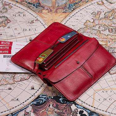Канцелярские товары ручной работы. Ярмарка Мастеров - ручная работа Обложка-Кошелек  для путешествий на 4 паспорта. Handmade.