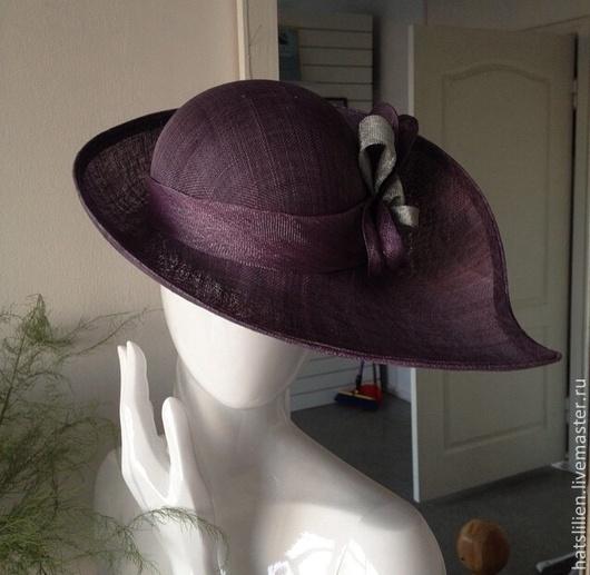 Шляпы ручной работы. Ярмарка Мастеров - ручная работа. Купить Статусная шляпка, бордовая. Handmade. Бордовый, Соломка, статус, для женщины