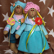 Куклы и игрушки ручной работы. Ярмарка Мастеров - ручная работа Нежная пара зайчиков. Handmade.