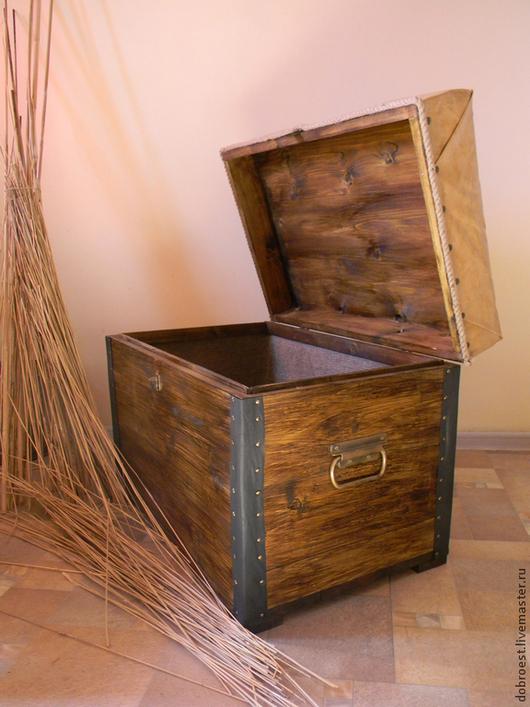 Мебель ручной работы. Ярмарка Мастеров - ручная работа. Купить Сундуки под старину.. Handmade. Коричневый, сундук под старину