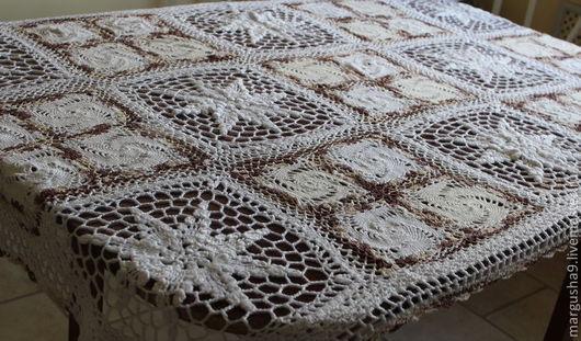 Текстиль, ковры ручной работы. Ярмарка Мастеров - ручная работа. Купить Роза ветров. Handmade. Белый, вязаный, вискоза