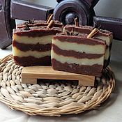 """Косметика ручной работы. Ярмарка Мастеров - ручная работа """"Шоколадный десерт"""" Мыло с нуля. Handmade."""