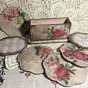 Для дома и интерьера handmade. Livemaster - original item Coasters Family night. Handmade.
