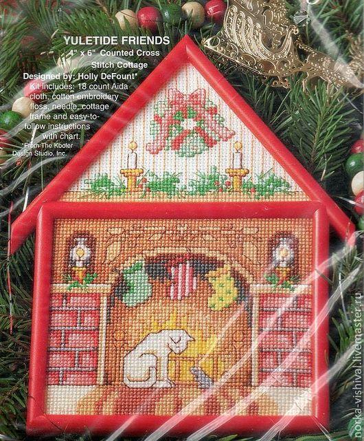 Вышивка ручной работы. Ярмарка Мастеров - ручная работа. Купить Набор для вышивания Yuletide Friends (Друзья Рождества). Handmade.