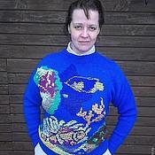 """Одежда ручной работы. Ярмарка Мастеров - ручная работа Свитер вязаный """"Красное море зимой"""". Handmade."""