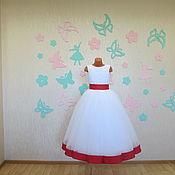 Работы для детей, ручной работы. Ярмарка Мастеров - ручная работа Нарядное пышное платье для девочки. Handmade.