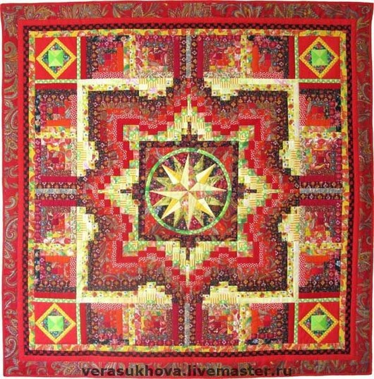 Home Textiles & Carpets handmade. Livemaster - handmade. Buy A blanket 'Fair' 220х220см.Quilt, patchwork, quilting, red