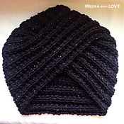 Аксессуары handmade. Livemaster - original item Cap-turban knitted Oriental beauty.. Handmade.