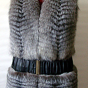 Одежда ручной работы. Ярмарка Мастеров - ручная работа Жилетка из лисы (bluefrost). Handmade.