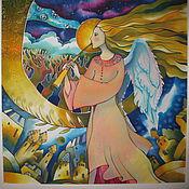 """Картины ручной работы. Ярмарка Мастеров - ручная работа Батик панно """"Ангел"""". Handmade."""