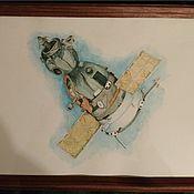 """Картины ручной работы. Ярмарка Мастеров - ручная работа Космический корабль """"Союз"""". Handmade."""