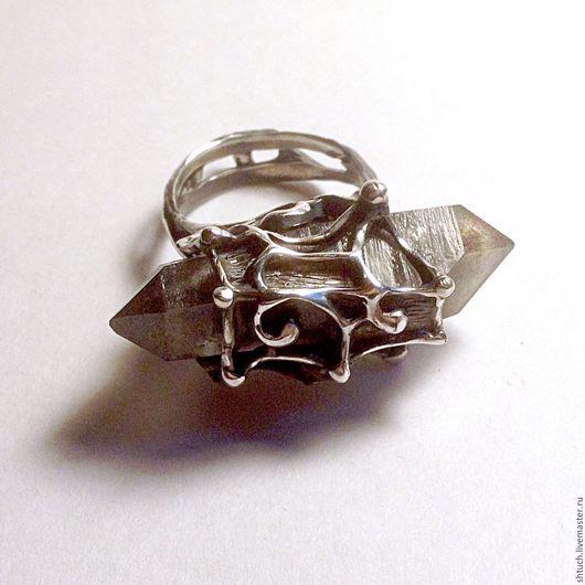 """Кольца ручной работы. Ярмарка Мастеров - ручная работа. Купить Кольцо """"Омм!"""". Handmade. Серый, кварц натуральный"""