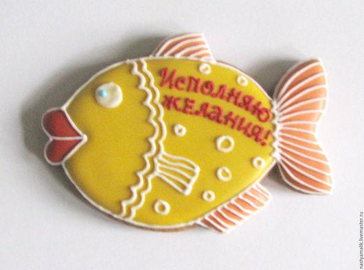 Кулинарные сувениры ручной работы. Ярмарка Мастеров - ручная работа. Купить Золотая рыбка.. Handmade. Желтый, золотая рыбка
