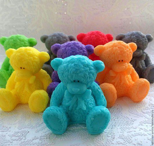 Мыло ручной работы. Ярмарка Мастеров - ручная работа. Купить Мыло мишка Тедди с бантом. Handmade. Комбинированный, мыло для детей