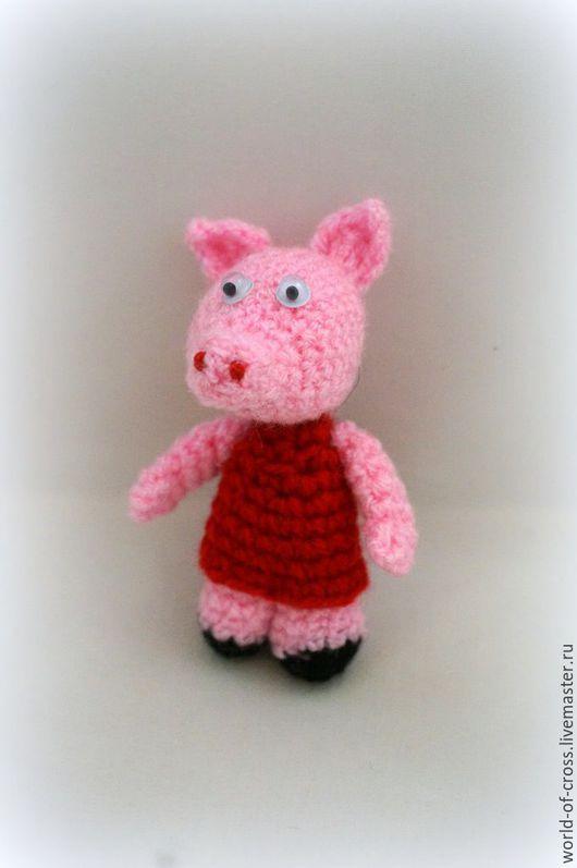 Сказочные персонажи ручной работы. Ярмарка Мастеров - ручная работа. Купить Свинка в платье. Handmade. Комбинированный, хрюшка, поросенок