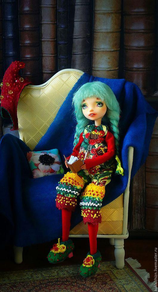 Коллекционные куклы ручной работы. Ярмарка Мастеров - ручная работа. Купить ООАК. Шарнирная кукла Молли. Домашний гномик.. Handmade.
