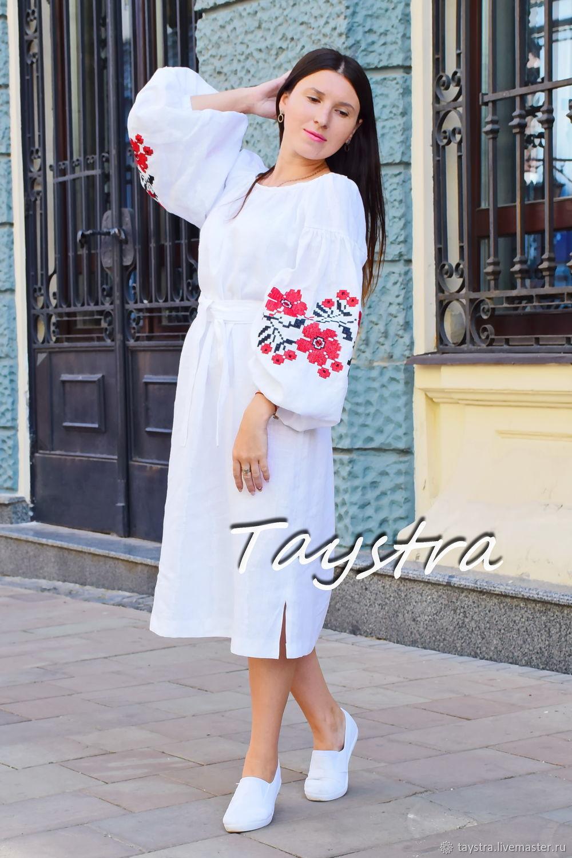 33fe732def Dresses handmade. Livemaster - handmade. Buy Embroidered Short dress linen  vyshyvanka.