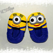 Обувь ручной работы handmade. Livemaster - original item Slippers-toys Minions. Handmade.