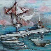Картины и панно ручной работы. Ярмарка Мастеров - ручная работа Sea mood. Handmade.