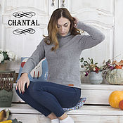 Одежда handmade. Livemaster - original item Turtleneck female knitted from Italian wool. Handmade.