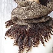 """Аксессуары ручной работы. Ярмарка Мастеров - ручная работа """"Уайльд"""", тёплый шерстяной валяный воротник. Handmade."""