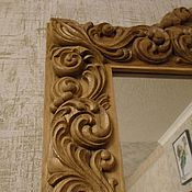 Зеркала ручной работы. Ярмарка Мастеров - ручная работа Зеркало в деревянной резной раме. Handmade.