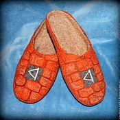 """Обувь ручной работы. Ярмарка Мастеров - ручная работа Тапочки """"Руна Даждьбог"""". Handmade."""