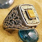 Украшения handmade. Livemaster - original item Silver ring with tiger`s eye. Handmade.