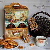 """Для дома и интерьера ручной работы. Ярмарка Мастеров - ручная работа Чайный буфет """"Ароматный чай"""". Handmade."""