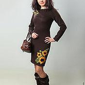 Одежда ручной работы. Ярмарка Мастеров - ручная работа Платье вязаное 4490. Handmade.