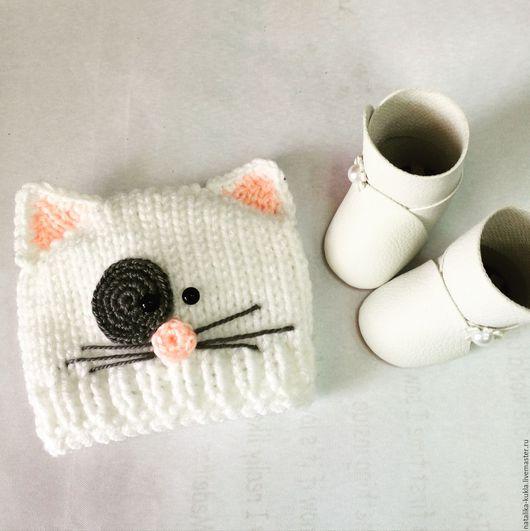 Шапочка - белый котик