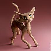 """Куклы и игрушки ручной работы. Ярмарка Мастеров - ручная работа """"Ню"""" кошка. Handmade."""