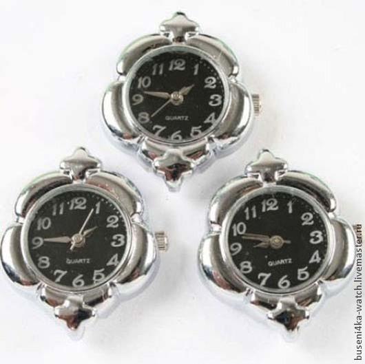 Для украшений ручной работы. Ярмарка Мастеров - ручная работа. Купить Основа для часов Клевер черный, платина (1шт). Handmade.