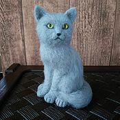Куклы и игрушки ручной работы. Ярмарка Мастеров - ручная работа Серый котик. Handmade.