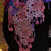 Аксессуары manualidades. Livemaster - hecho a mano De color rosa - estar de chal - chal. Handmade.