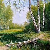 Картины и панно handmade. Livemaster - original item Oil painting Paysagee Vladimir Chernov. Handmade.